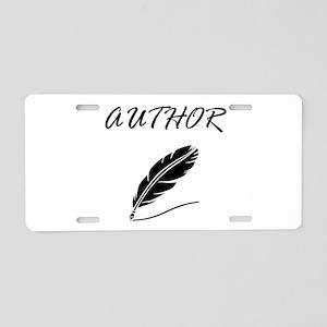 Author Quill Aluminum License Plate