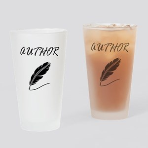 Author Quill Drinking Glass