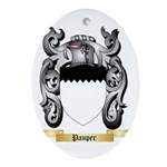 Pauper Oval Ornament
