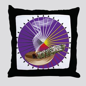 Smudging Throw Pillow
