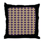 Yellow Starlight Throw Pillow