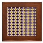 Yellow Starlight Framed Tile