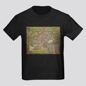 Vintge Map of Oxford England (1605) T-Shirt
