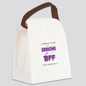 GRANDMA IS MY BFF Canvas Lunch Bag