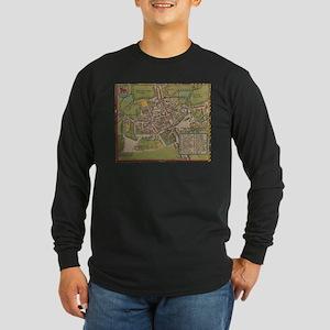 Vintge Map of Oxford England ( Long Sleeve T-Shirt