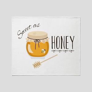 Sweet As Honey Throw Blanket