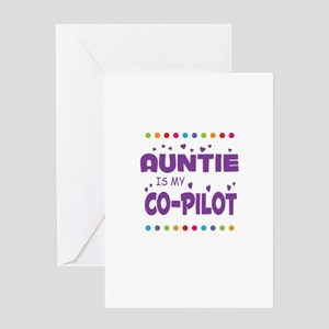 AUNTIE IS MY COPILOT Greeting Cards