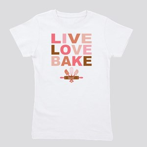 Live Love Bake Girl's Tee