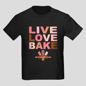 Live Love Bake Kids Dark T-Shirt