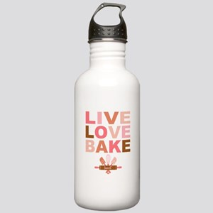 Live Love Bake Stainless Water Bottle 1.0L