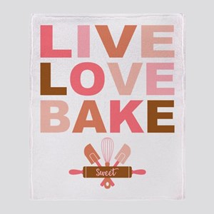 Live Love Bake Throw Blanket