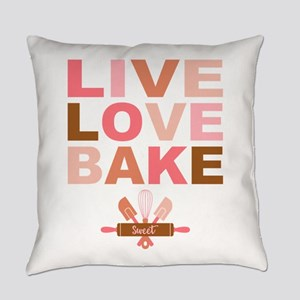 Live Love Bake Everyday Pillow
