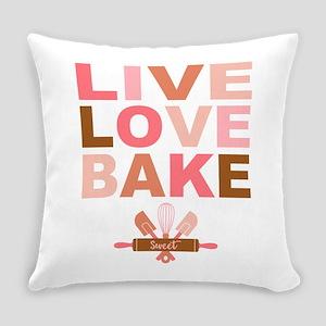 Live Love Bake Everyday Pillow