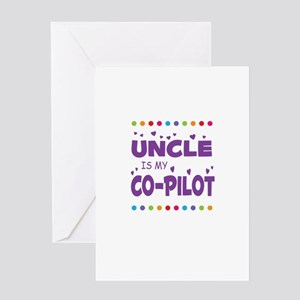 UNCLE IS MY COPILOT Greeting Cards
