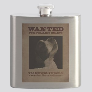 The Sprightly Spaniel Flask