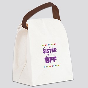 SISTER IS MY BFF Canvas Lunch Bag