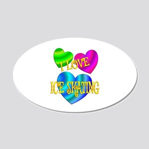I Love Ice Skating 20x12 Oval Wall Decal