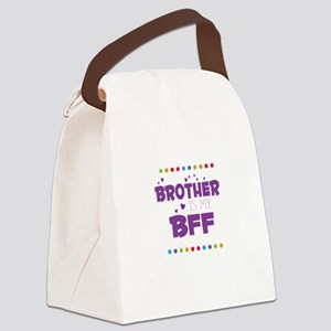 BROTHER IS MY BFF Canvas Lunch Bag