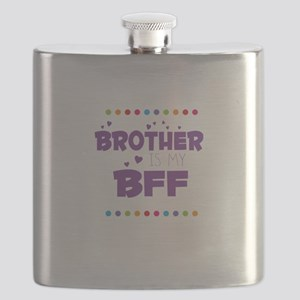 BROTHER IS MY BFF Flask