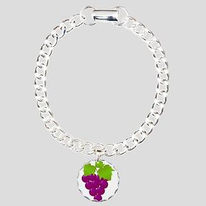 grapes Charm Bracelet, One Charm