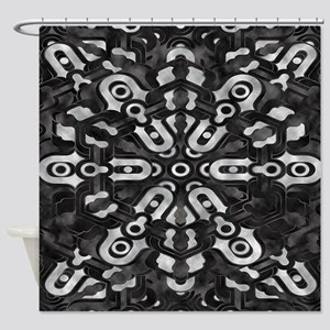 Techno-hole Shower Curtain