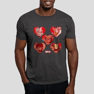 Avengers Spider-Man Valentines Dark T-Shirt