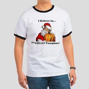 Believe in Great Pumpkin Ringer T