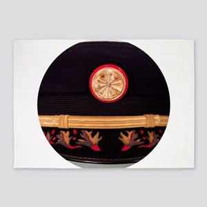 Fire Chief Hat 5'x7'Area Rug