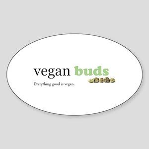 Vegan Buds logo tee Sticker