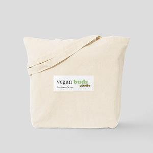 Vegan Buds logo tee Tote Bag