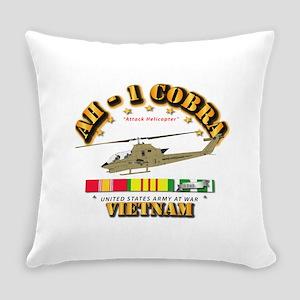 AH-1 - Cobra w VN Svc Ribbons Everyday Pillow