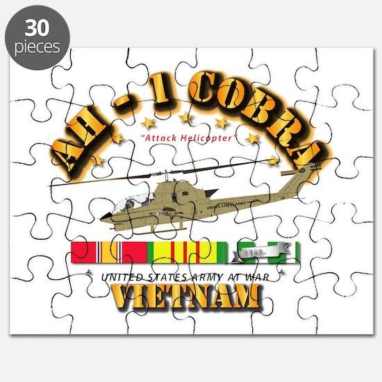 AH-1 - Cobra w VN Svc Ribbons Puzzle