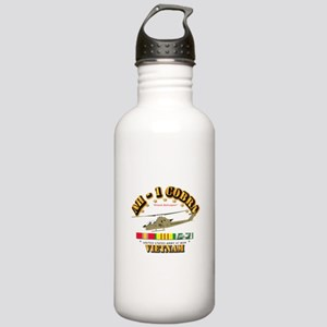 AH-1 - Cobra w VN Svc Stainless Water Bottle 1.0L