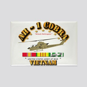AH-1 - Cobra w VN Svc Ribbons Rectangle Magnet
