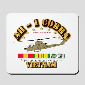 AH-1 - Cobra w VN Svc Ribbons Mousepad