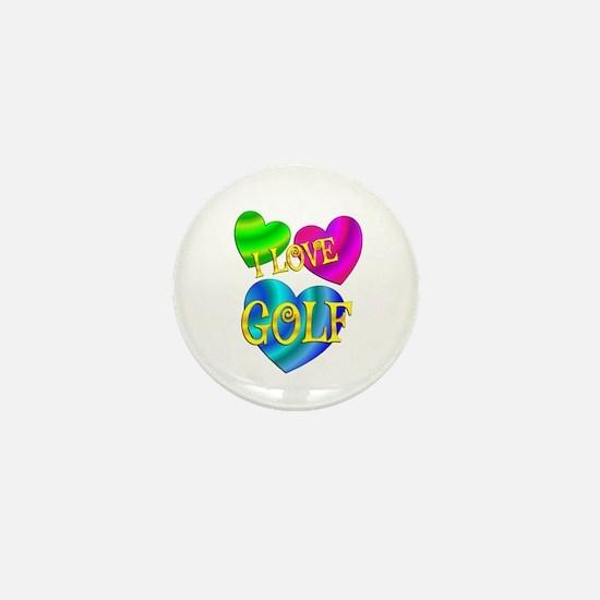I Love Golf Mini Button