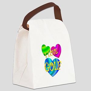 I Love Golf Canvas Lunch Bag