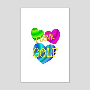 I Love Golf Mini Poster Print
