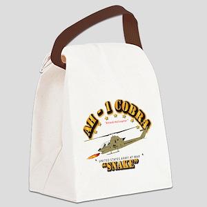 AH-1 Cobra - Snake Canvas Lunch Bag