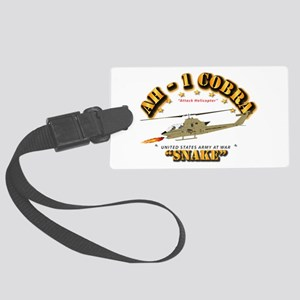 AH-1 Cobra - Snake Large Luggage Tag