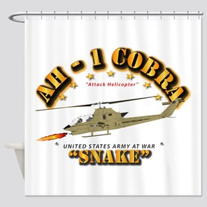 AH-1 Cobra - Snake Shower Curtain