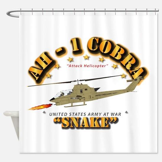AH-1 Cobra - Snake Shower Curtain