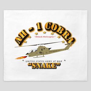 AH-1 Cobra - Snake King Duvet
