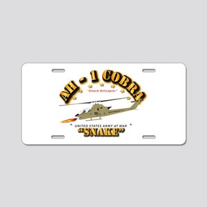 AH-1 Cobra - Snake Aluminum License Plate