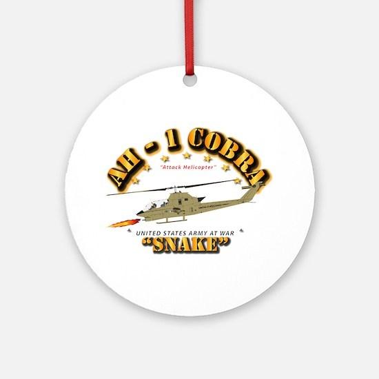 AH-1 Cobra - Snake Round Ornament