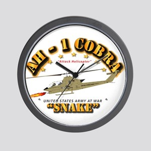 Ah-1 Cobra - Snake Wall Clock