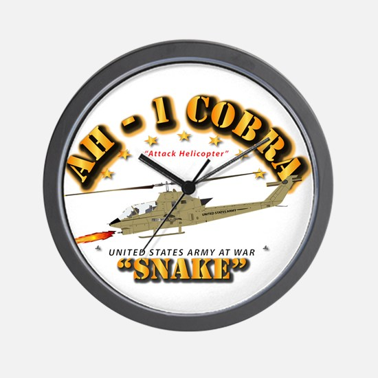 Ah-1 Cobra - Snake Wall Clock