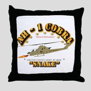 AH-1 Cobra - Snake Throw Pillow