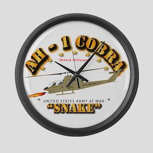 Ah-1 Cobra - Snake Large Wall Clock