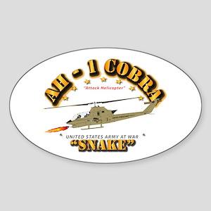 AH-1 Cobra - Snake Sticker (Oval)